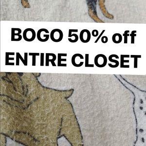 BOGO 50% OFF ENTIRE CLOSET